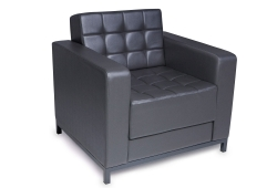 Кресло Лаунж (экокожа темно-серый)