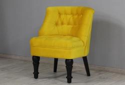 Кресло Прованс (велюр желтый, ножки черные)