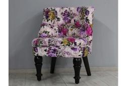 Крісло Прованс (мікрофібра фіолетові квіти ніжки венге)