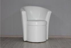 Кресло Рондо (экокожа белое)