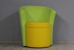 Кресло Рондо (экокожа желто-салатовое)