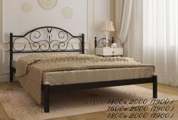 Кровать Анжелика (черный глянец)