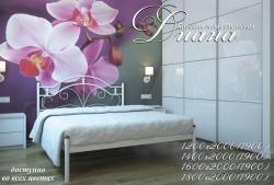Кровать Диана (белый бархат)