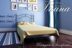 Кровать односпальная Диана мини (металлик)