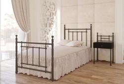 Ліжко односпальне Неаполь міні (чорний шоколад)