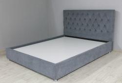 Ліжко Гресс (велюр сірий)