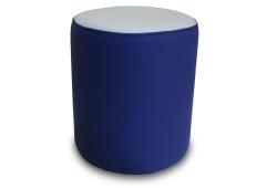 Пуф Д36 (экокожа синий/белый)