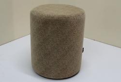 Пуф Д36 (флок коричневый с текстурой)