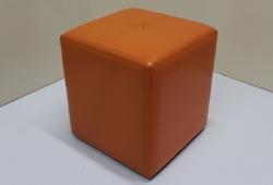 Пуф Элит (экокожа глянец оранжевый)