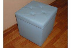 Пуф Флоренція (екокожа блакитний)