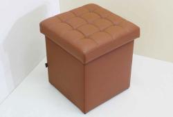 Пуф Глазго (экокожа коричневый)