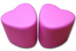 Пуф Сердце (экокожа розовый)