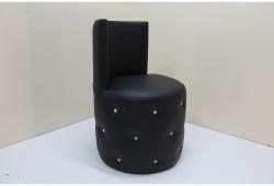 Пуф Палермо со спинкой (экокожа черный)