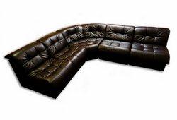 Кутовий диван Клуб на 5 місць (екокожа коричневий)