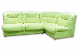 Угловой диван Визит (экокожа салатовый)
