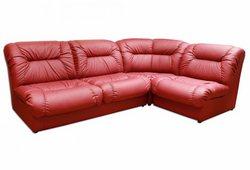 Угловой диван Визит (экокожа красный)