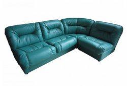 Угловой диван Визит (экокожа зеленый)