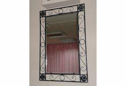 Зеркало Узор (черное серебро)