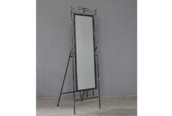 Зеркало кованое напольное (черное серебро)